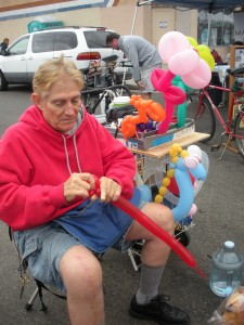 balloon animal man