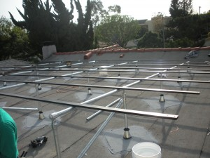 solar roof in process