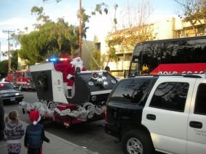 Santa and SUV