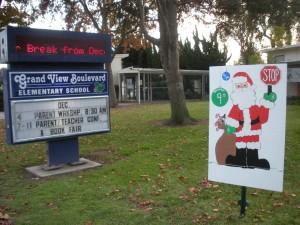 Santa stop at Grand View