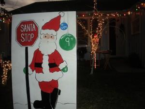 Santa Stop in neighborhood