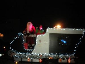Santa leaving
