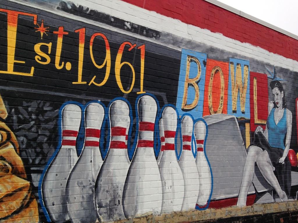 Bowling Mar Vista and car Mar Vista Mural by Jonas Never