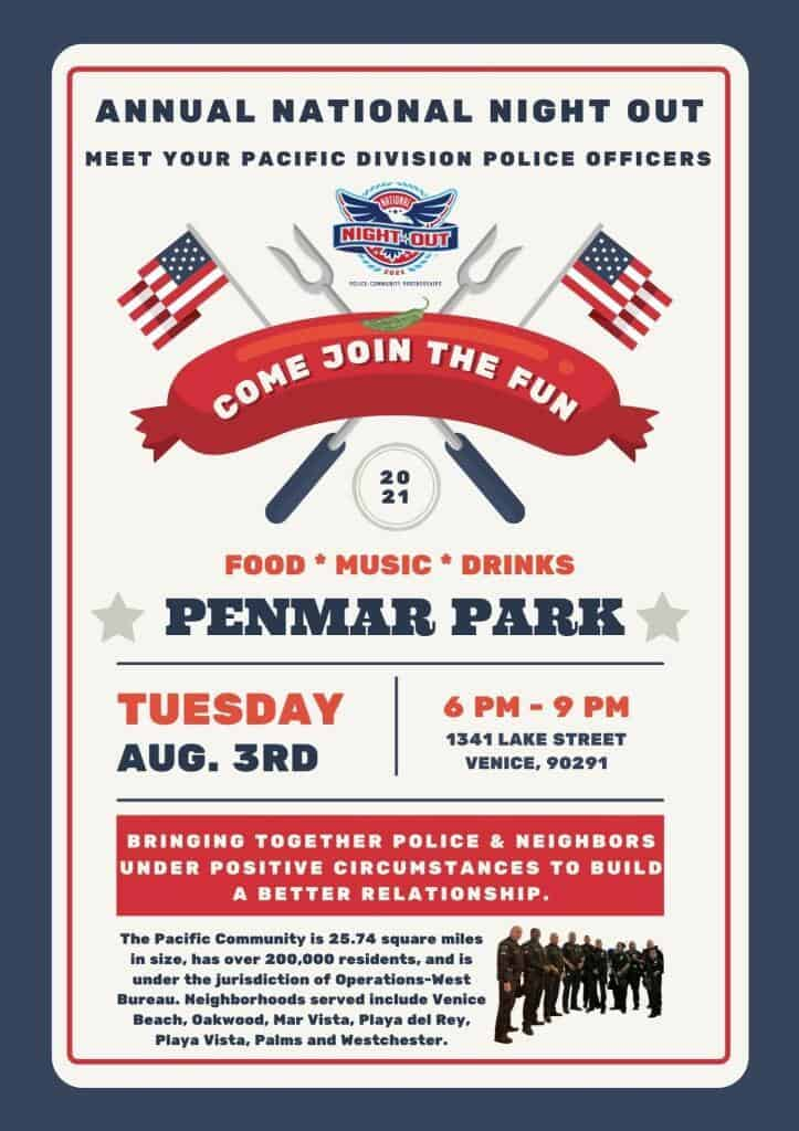National Night Out Pacific Division August 3rd, 2021