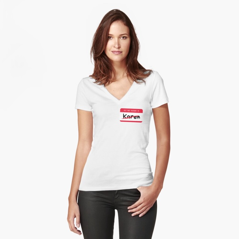 karen badge t shirt