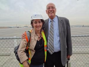 Mar Vista Mom & Bill Rosendahl at LAX